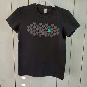 American Apparel Black Graphic Tee Shirt